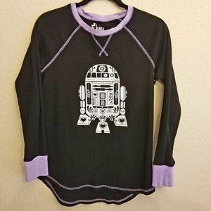 Star Wars R2D2 Henley Black/Lilac Thermal